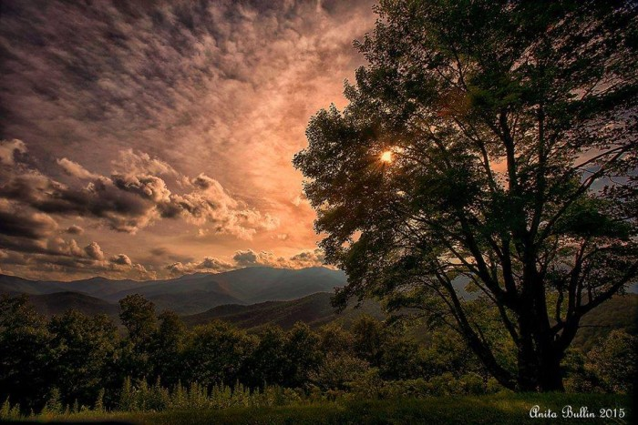 10. A breathtaking moment in time captured by Anita L. Bullin off the Blue Ridge Parkway.