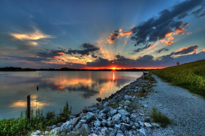 3. Casey Mitchell took this stunning shot of the sun setting over Yankee Hill Lake.