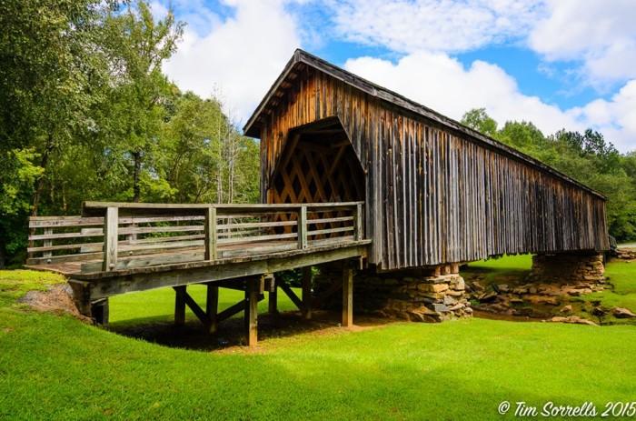 17. Auchumpkee Covered Bridge in Upson County, GA by Tim Sorrells