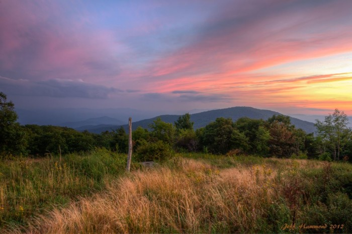 12. Sunset on the Appalachian Trail near Buena Vista.
