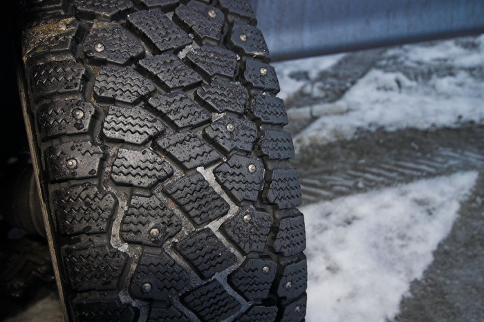 12.Forgot to take off your studded tires.