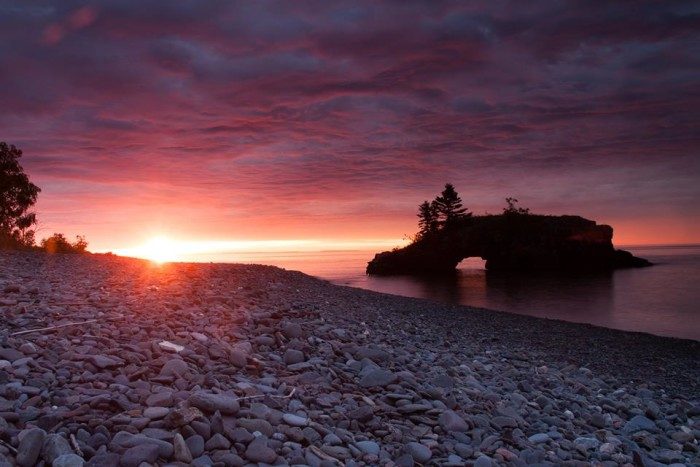 10. Tami Phillippi captured this unbelievably beautiful shot of the September sunrise at Hollow Rock, just outside of Grand Portage.
