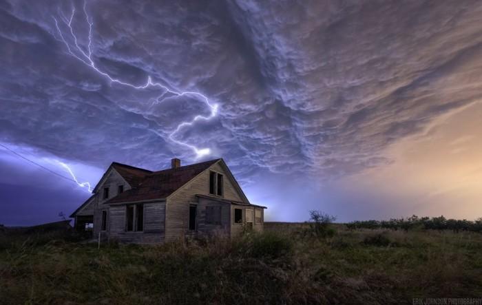 4. Erik Johnson Photography captured this striking shot of a bolt of lightning during a storm near Denton.