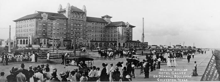11. Despite renovations since then, Galveston's Hotel Galvez still has the same elegant, Victorian look that it did in 1911.