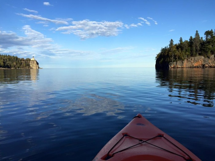 11. Adam Peterson took a break from kayaking near Split Rock Lighthouse to take this amazing photo looking out across Superior.