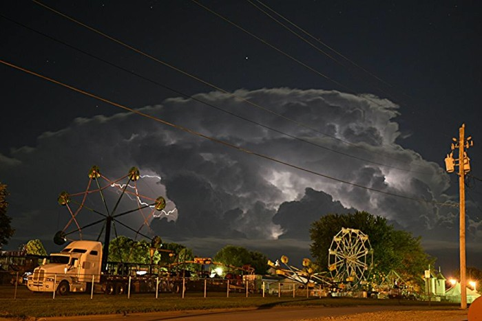3. Jeremy J Von Hagel took this photo of a imminent storm over the fairgrounds in Le Mars.