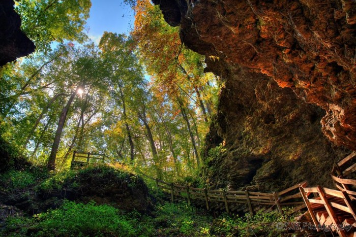 4. Tony Hayes took this breathtaking photo at Maquoketa Caves State Park.