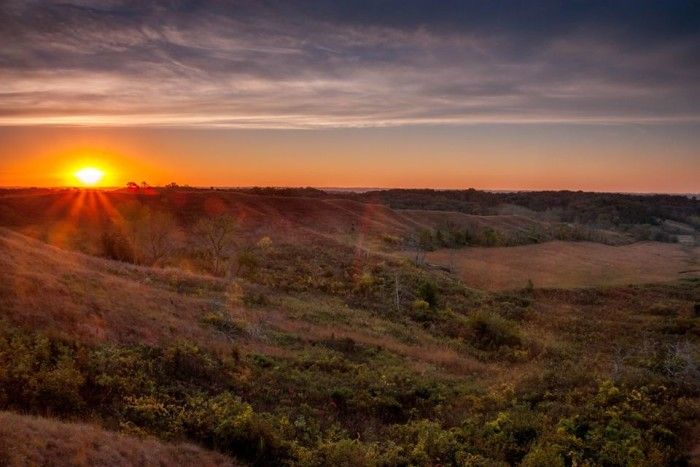 7. Michael Leland snapped a photo of this beautiful sunrise in the Loess Hills near Preparation Canyon State Park.
