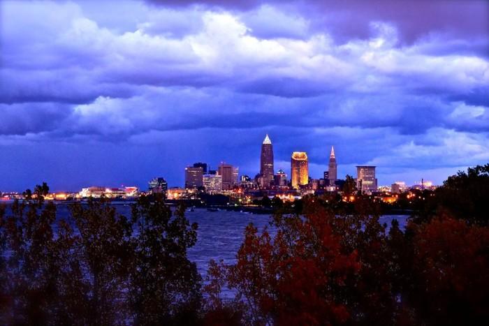 9. Cleveland skyline in mid-October