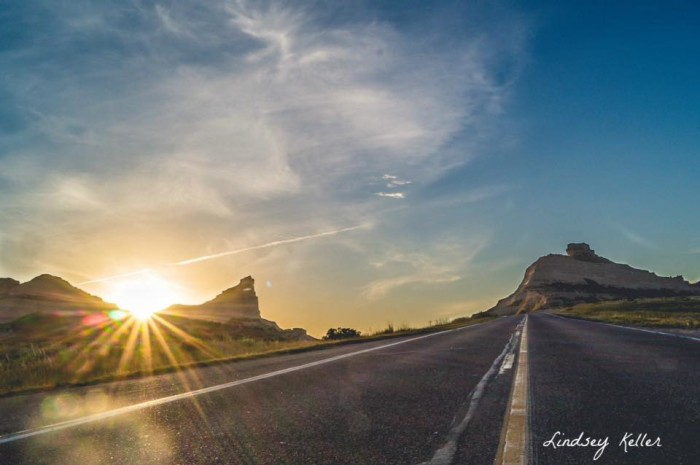 6. Lindsey Keller took this beautiful photo of a morning sunrise at Scotts Bluff National Monument.