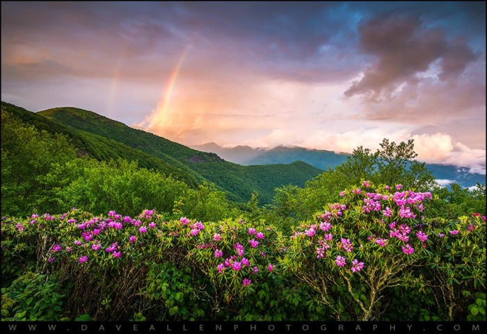 14. A breathtaking double rainbow captured at Craggy Gardens by Dave Allen Photography.