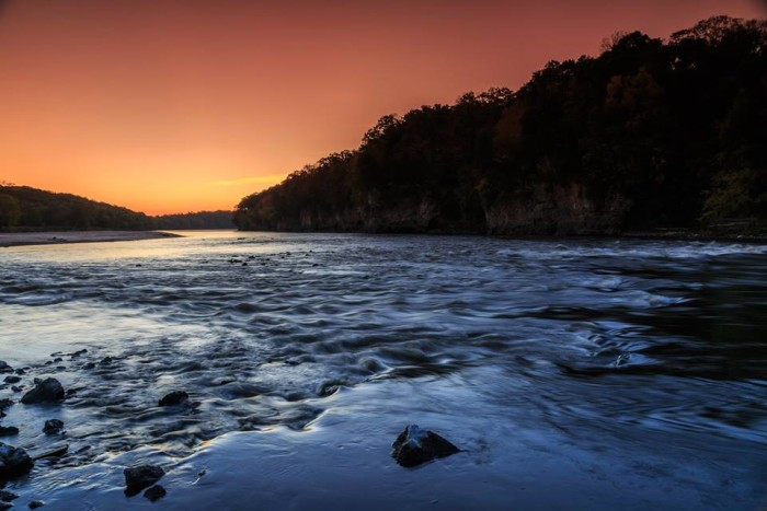10. Patrick Trepp took this beautiful photo of a sunset on the Cedar River.