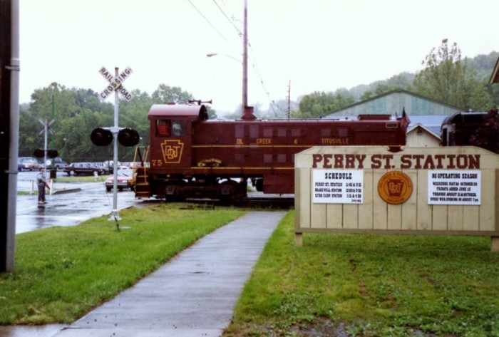 7. Take a train ride in the town where the oil industry was born.