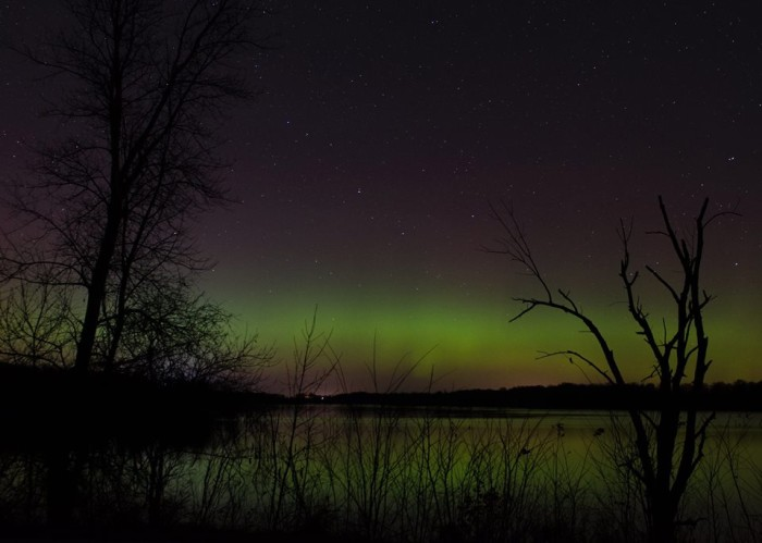 13. Kim Anderson took this stunning shot of the Northern Lights over Brushy Creek Lake.