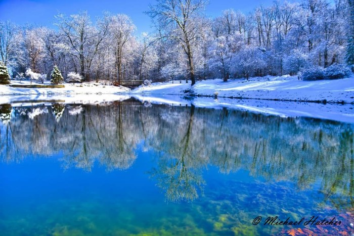 17. Mike Hatcher captured a perfect picture after the first snowfall at Morshes Park pond in Columbia City.