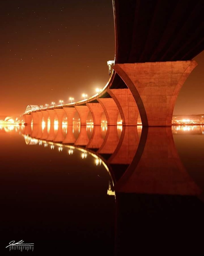 23. Joe Polecheck took this unbelievably cool photo from under the Bong Bridge in Duluth.
