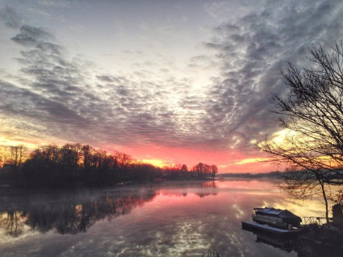 10. Jason Humbracht shared what the Morse Reservoir looks like during a sunrise. Gorgeous!