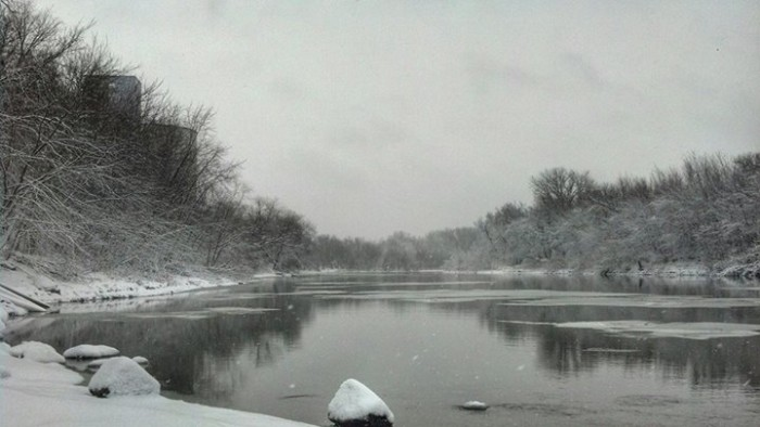 16. The Minnesota River in New Ulm looks amazing after our first snows this year. Nothing beats the winter waters of MN, especially once they freeze!