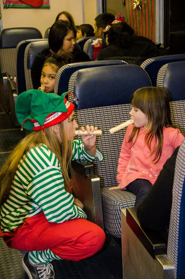 1. You can hop aboard one of our Colorado trains to meet Santa...