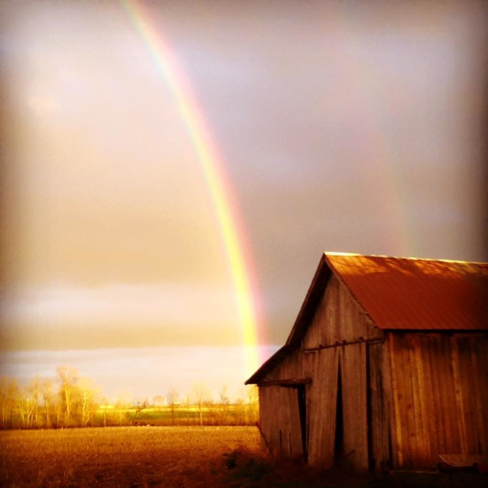 7. Jessica Anne Macke captured an incredible picture of a rainbow after a rainstorm in North Manchester.