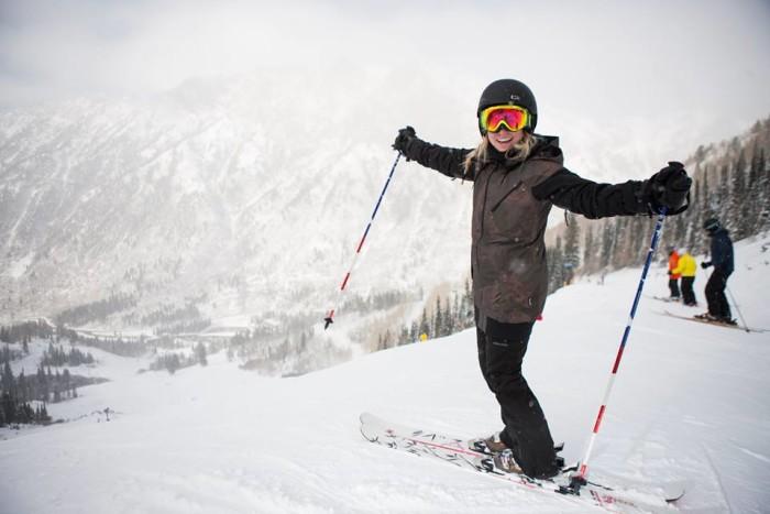 17. Go skiing.