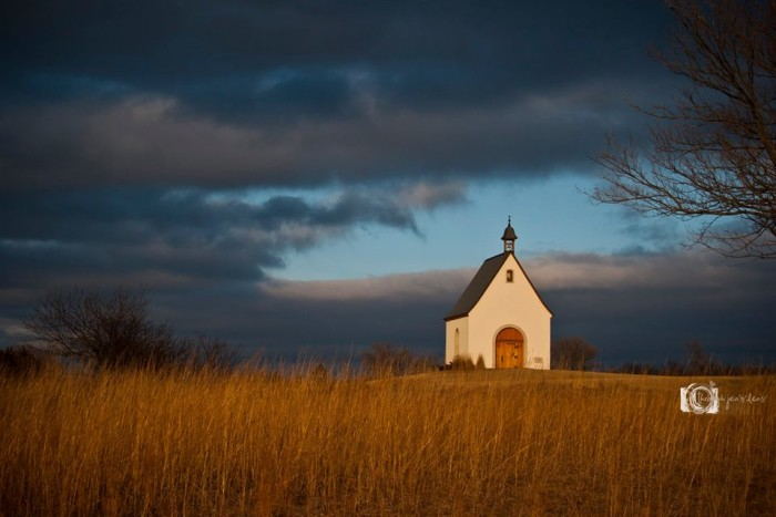 15. Jennifer Strohmyer took this photo of a lonely chapel out in the middle of a field in rural Nebraska.