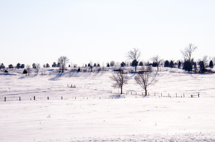 19. The snowy landscape in Vermillion is fantastic.