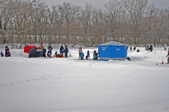 4. Or in winter, grab a seat ON the lake!