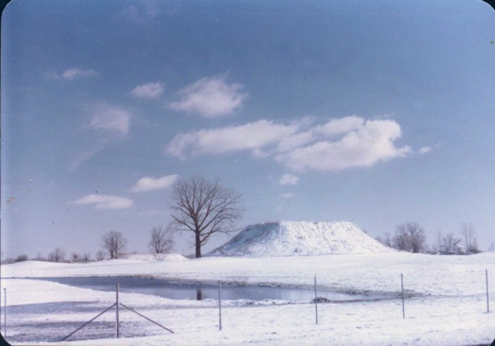 12. The Winterville Mounds are almost unrecognizable when immersed in gorgeous, powdery snow.