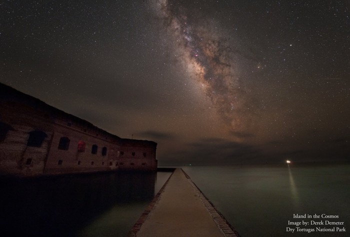 15. Derek Demeter sent us this photo of the stars over Ft. Jefferson at Dry Tortugas National Park.