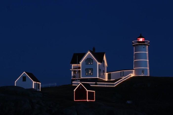 """37. And a great, big glorious and bright """"thank you, 2015"""" from Nubble Light."""