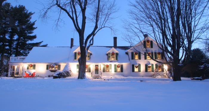 1. A sleepy winter scene at the McGuire House in Ashburnham.