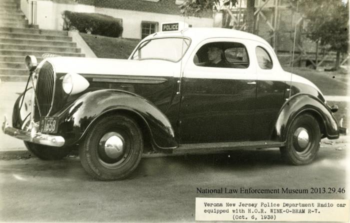 8. A Verona, New Jersey police car.