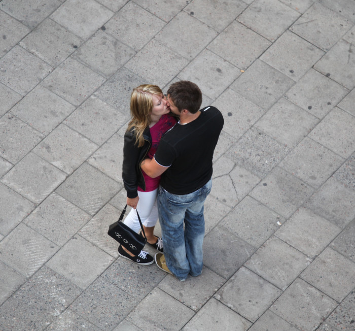 1. How long is a kiss in public allowed to last?