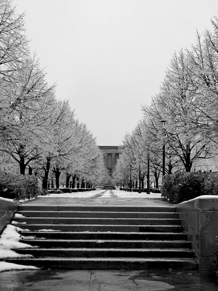 12.	Behind the Nelson-Atkins Museum of Art, Kansas City