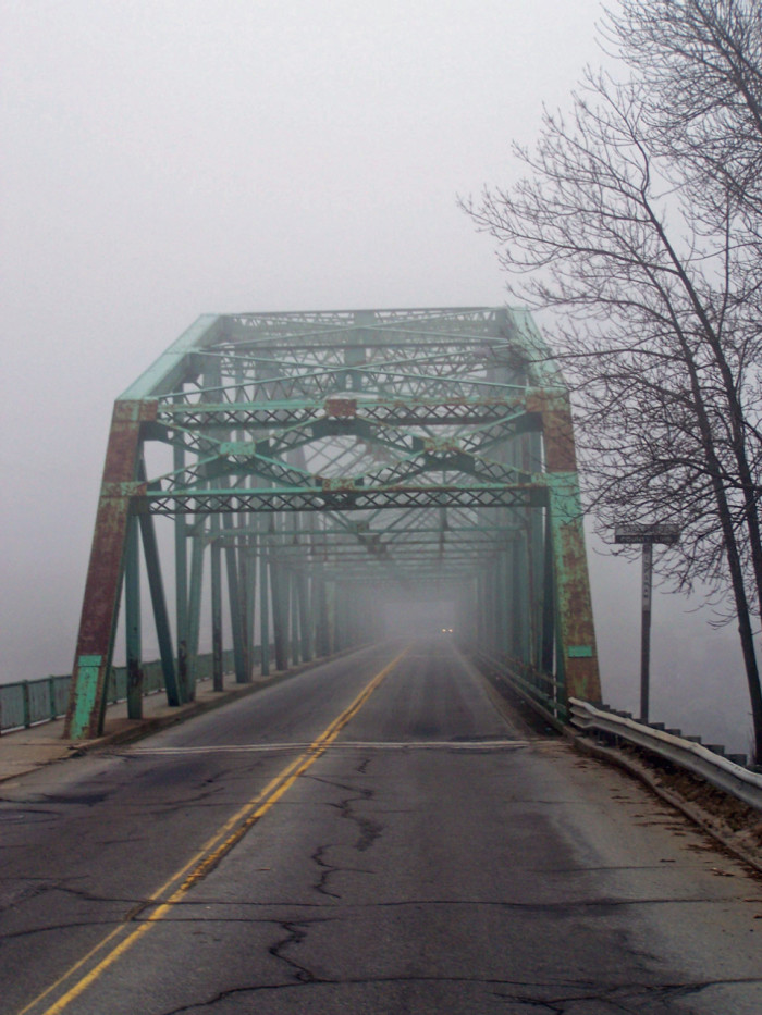 11. There's something especially eerie about a bridge filled with fog, like this one connecting Brunswick and Topsham.