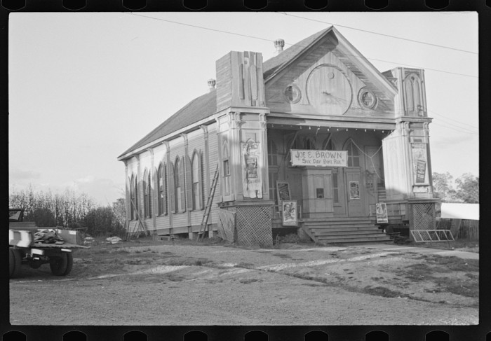 13. A Woodville church ends up serving as the town movie house.