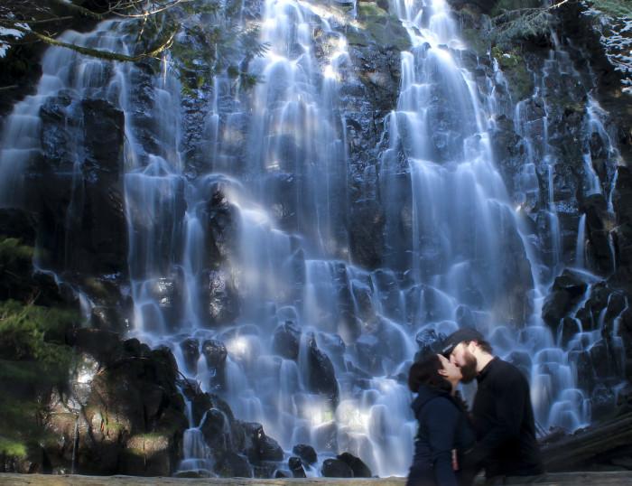 6. Sneak a kiss beneath a waterfall.