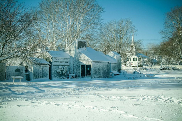 12. This West Tisbury art gallery looks amazing with a fresh coat of white paint.