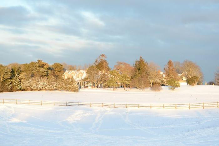 3. Perfect snowman-building territory in Edgartown.