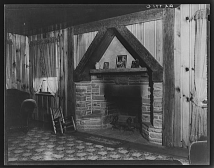 14) House interior in November, 1935