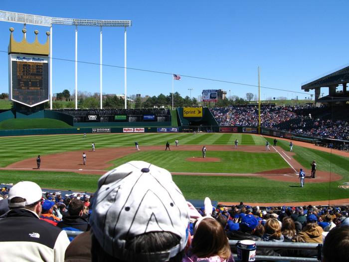 14.Catch a Royals game at Kauffman Stadium.