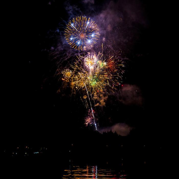 8) Fireworks over Sitka Harbor