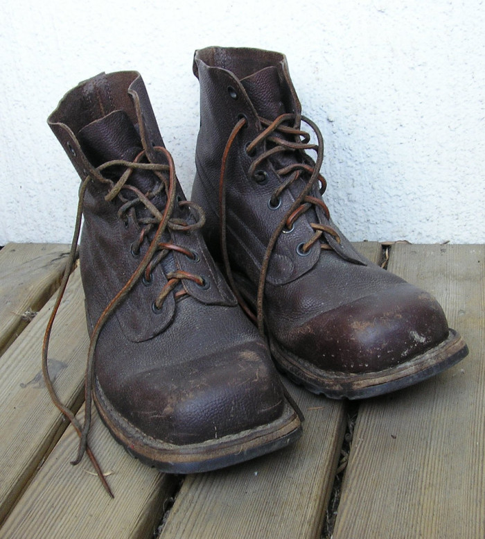 2. Shake out your boots before putting them on.