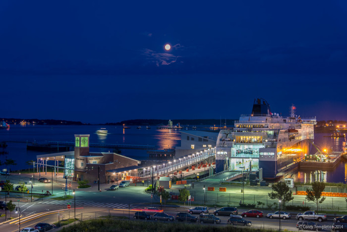 7. Does anyone else remember our recent Super Moons? This one over the ocean gateway in Portland lights up the whole harbor. Super Moons are about as infrequent as a fully booked sailing of the Nova Star. Actually, there may be more Super Moons.