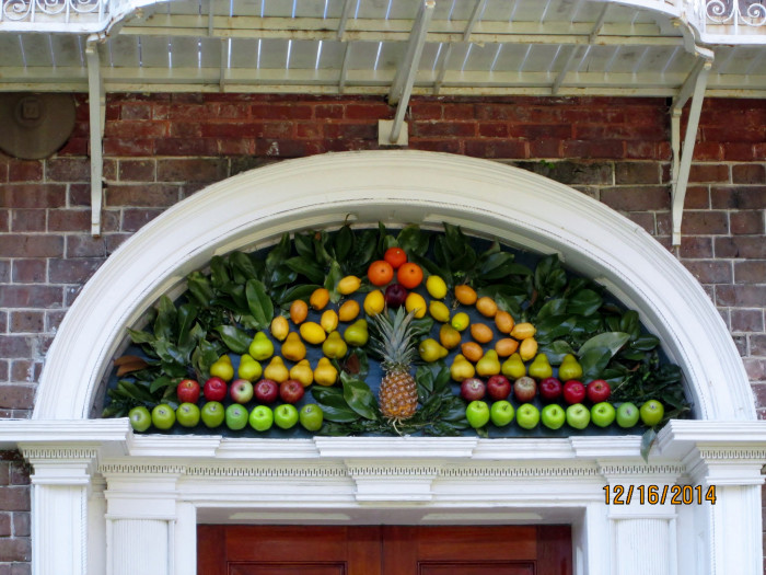 13. Wow. This fabulous display in Charleston was a LOT OF WORK for someone. I hope the squirrels don't find out about it.