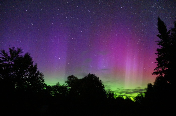 13. Maine is one of the few Northern states that provide visibility to the Northern Lights during certain times of the year. This photo was taken over Milo at around 830pm.