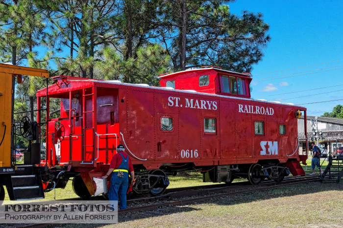 5. Visit St. Marys and ride on the red locomotive