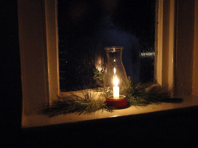 8. Time to put candles in all of the windows.