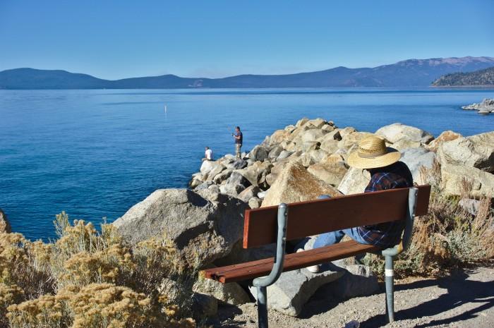 13. Go fishing on Lake Tahoe.